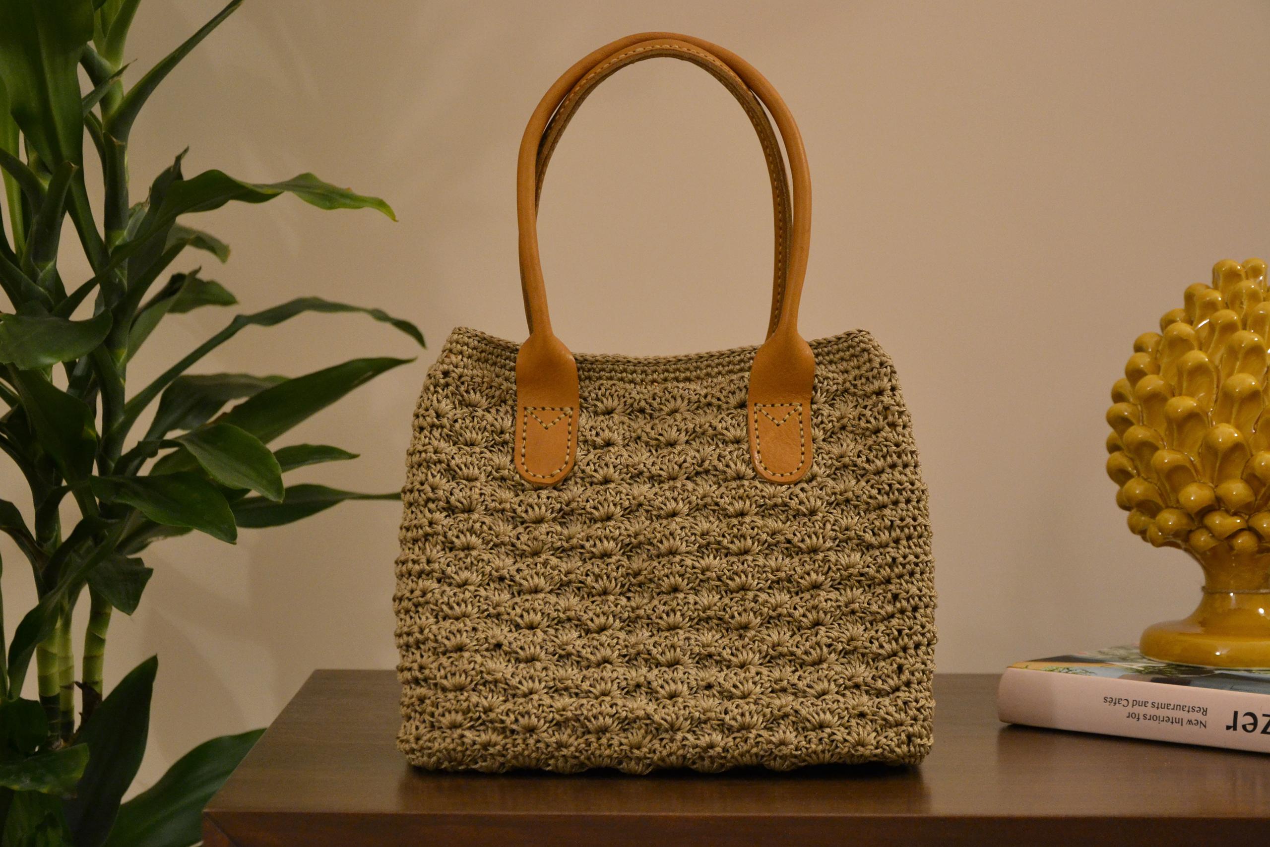 Natural Marie Crochet Bag