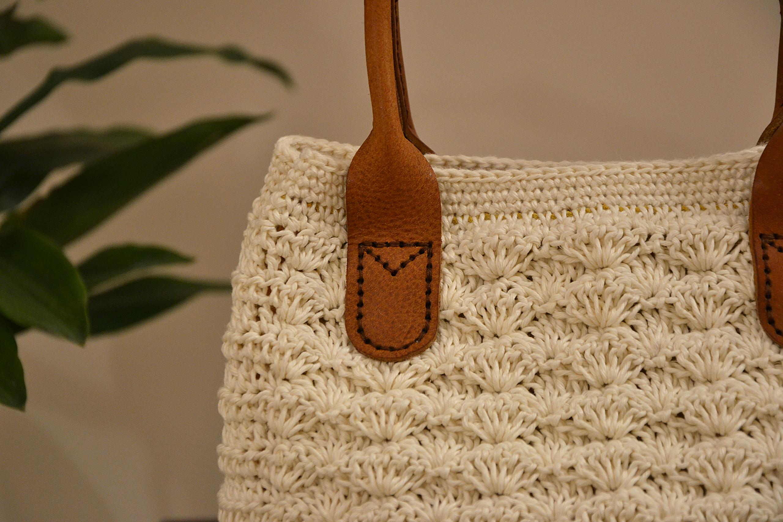White Marie Crochet Bag