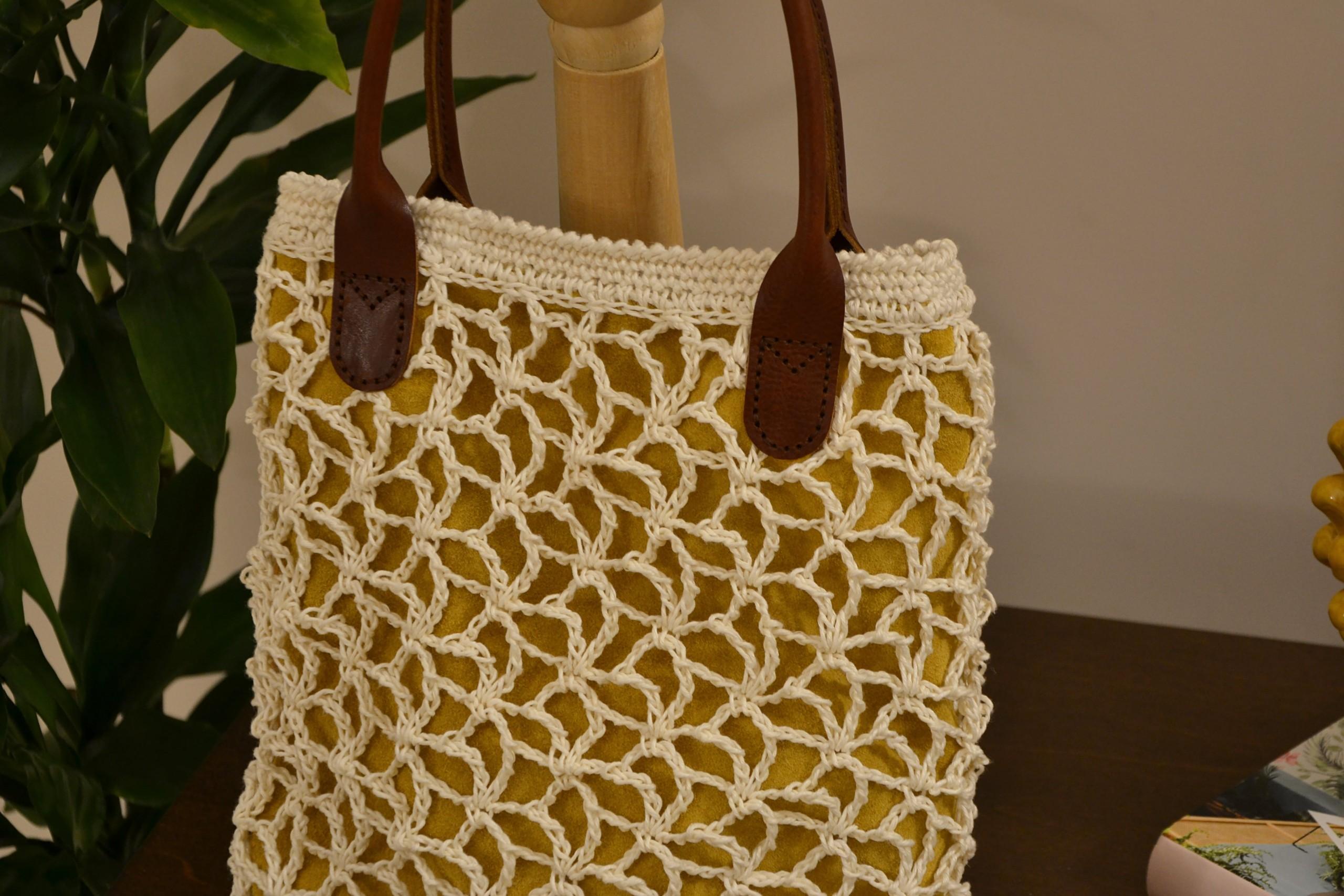 White Nina Crochet Bag